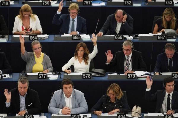 歐洲議會通過動議,擬制裁匈牙利。(法新社)