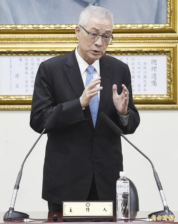 國民黨主席當選人吳敦義。(資料照,記者陳志曲攝)