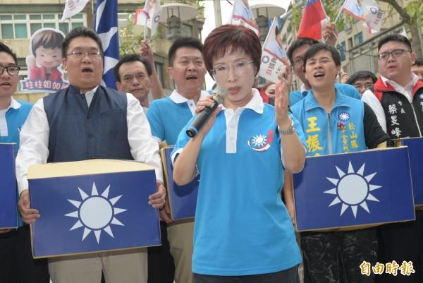 國民黨黨主席選舉號次抽籤,籤王1號由現任黨主席洪秀柱抽中。(資料照,記者張嘉明攝)