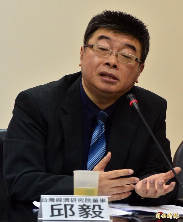 新黨今早公布不分區名單,,前立委邱毅名列第二。(資料照,記者王藝菘攝)