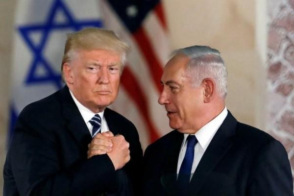 在美國宣布退出聯合國教科文組織後,以色列也跟進。圖左為美國總統川普,圖右為以色列總理尼坦雅胡。(資料照,路透)