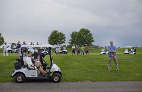 白宮空調系統翻修,總統川普早已移到紐澤西州的高爾夫球場展開「工作假期」。(美聯社)