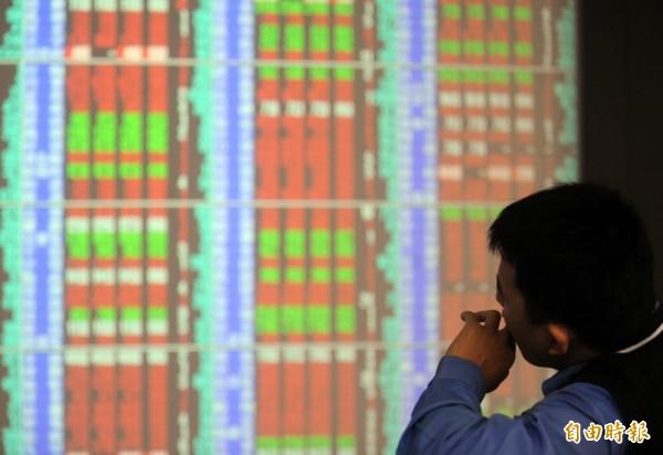 台北股市今天開盤上漲24.36點,漲幅0.25%,報9657.05點,成交金額為13.48億元。(資料照,記者王藝菘攝)