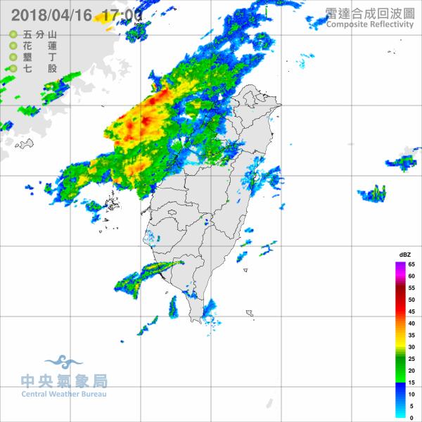隨著華南雲雨區東移接觸台灣,從現在起各地天氣將再度轉為不穩定,越晚下雨機會越高。(中央氣象局)