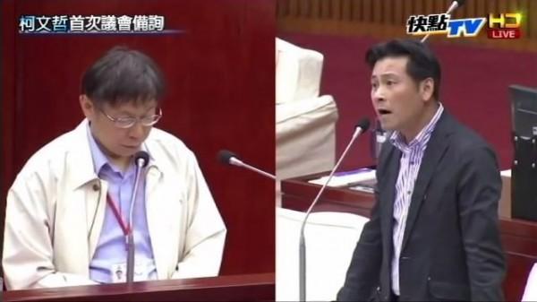 國民黨議員戴錫欽因日前在議會用高分貝的音量質詢柯文哲,而遭網友封「議場平偉」。(圖擷取自YouTube)