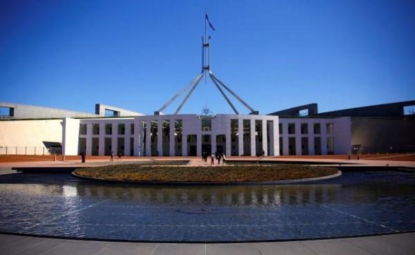 澳洲參議院議長發言人今日表示,由於中國一直試圖透過實習生窺探澳洲事務,澳洲國會已經禁止外國人在國會實習。圖為澳洲國會大廈。(路透檔案照)