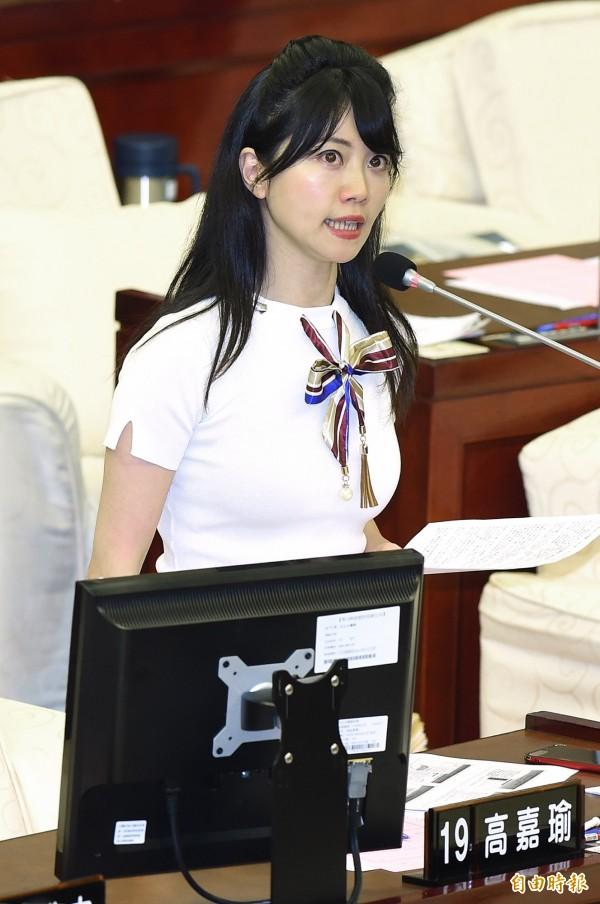 高嘉瑜今天说,台北市长选战焦点不该是她,期待姚文智重整团队后,能够有刮目相看的政见。(资料照)