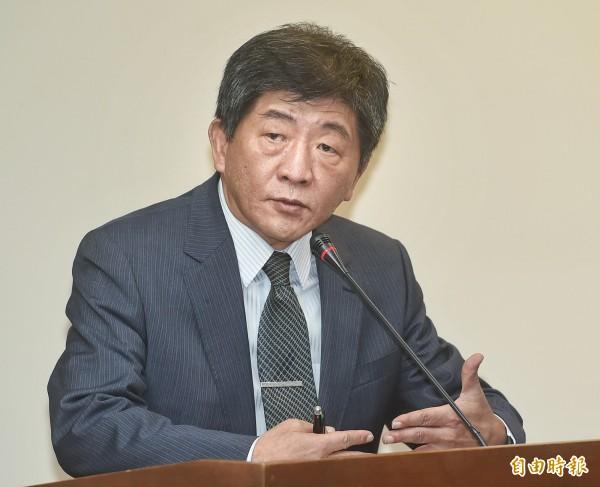 針對台灣是否能參加世界衛生大會(WHA),世界衛生組織(WHO)今正式表示,沒計畫邀請台灣代表團出席。圖為衛福部長陳時中。(資料照,記者方賓照攝)