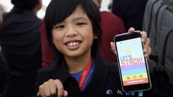 澳洲10歲亞裔男童Yuma Soerianto,已經寫出5款蘋果APP。(圖擷自《雪梨晨鋒報》)