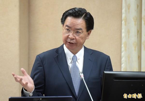 台、多斷交   外交部長吳釗燮:多國大使館月底撤離(資料照)
