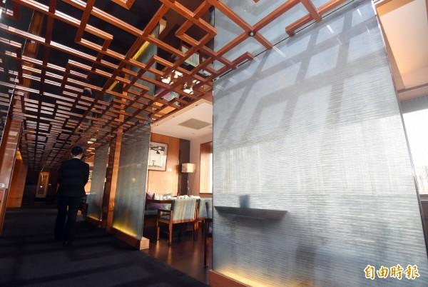 台北喜來登飯店請客樓獲得米其林二星餐廳認證。(資料照)