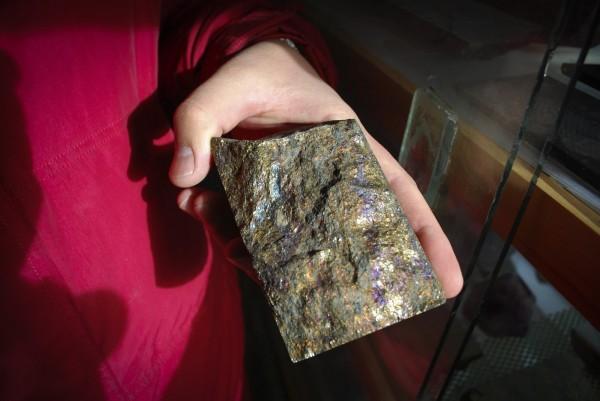 台企赴蒙想買銅礦。圖為2009年蒙古銅礦開採出的樣品。(美聯社)