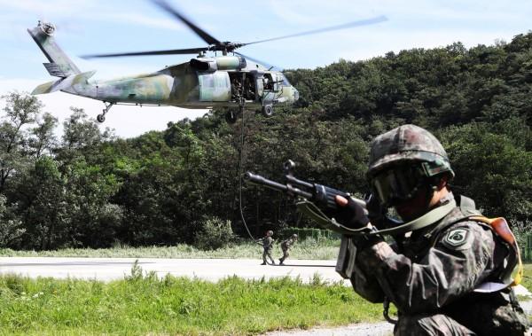 每年8月的美韓聯合軍演,代號為「乙支自由衛士」(Ulchi Freedom Guardian),是美韓三大例行軍演之一。(路透)