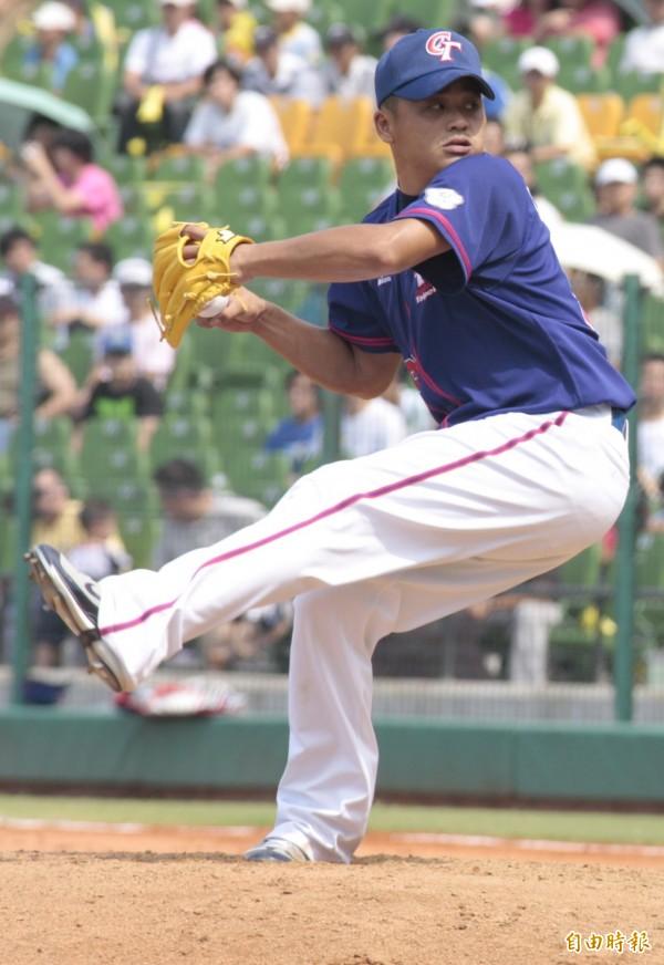 前職棒選手張誌家,時常代表台灣出賽國際賽事。(資料照,記者詹朝陽攝)