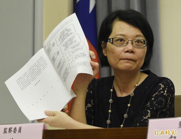 前法官陳鴻斌性騷助理案,監委王美玉(如圖)、方萬富將於收到職務法庭判決文後,研究提起再審。(資料照)