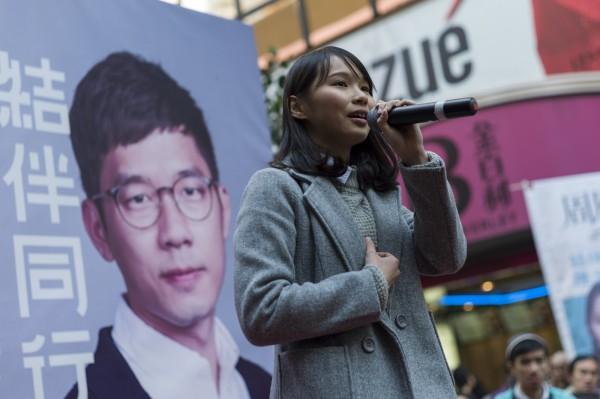 香港選舉主任鄧如欣以「香港眾志」政綱倡議民主自決為由,裁定取消周庭(見圖)立法會補選資格。(歐新社)