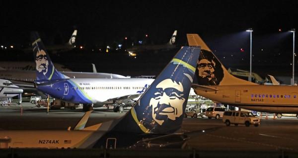 阿拉斯加航空一架客機遭地勤劫機後墜毀。(美聯社)