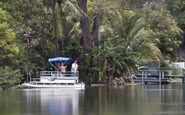 傳出鱷魚吃人的Silver Lakes Rotary自然公園。(美聯社)