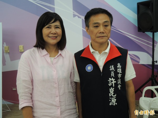 國民黨選出許崑源、陸淑美搭檔角逐下屆高雄市議會議長、副議長。(記者王榮祥攝)
