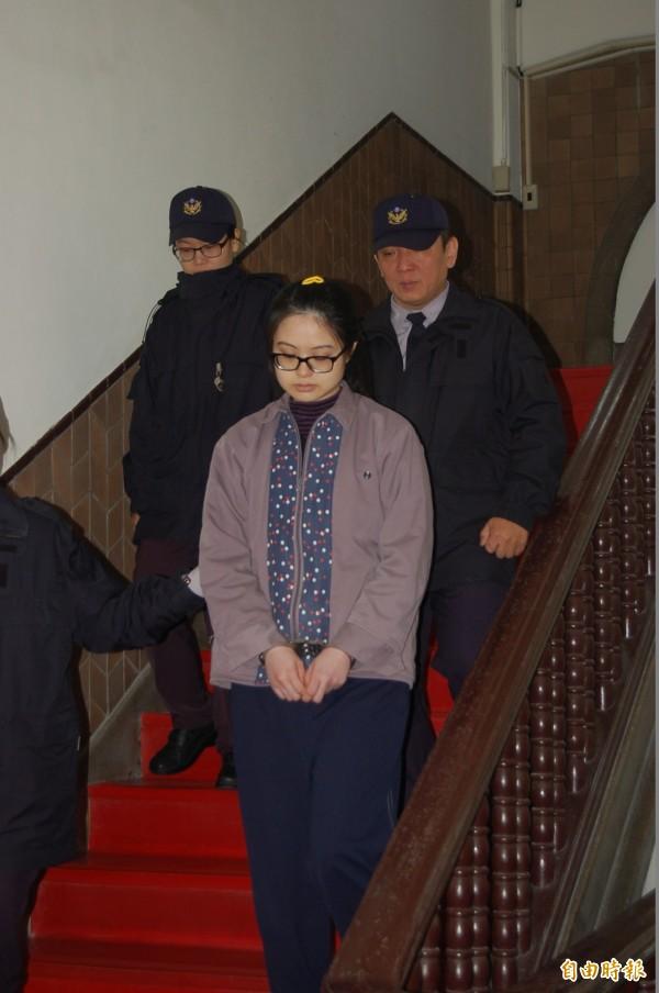 犯下八里雙屍命案的凶嫌謝依涵,今判免死定讞。(資料照,記者楊國文攝)