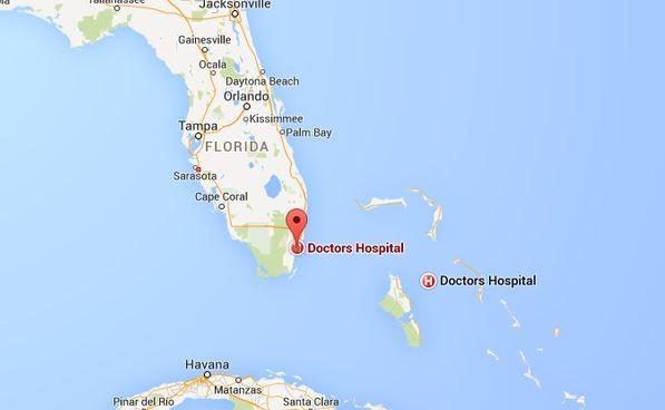 造成疏失的醫院位於美國佛羅里達州南部。(圖擷自鏡報)