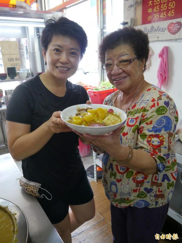 后里紅豆阿嬤咖哩飯已傳承至第二代。(記者張軒哲攝)