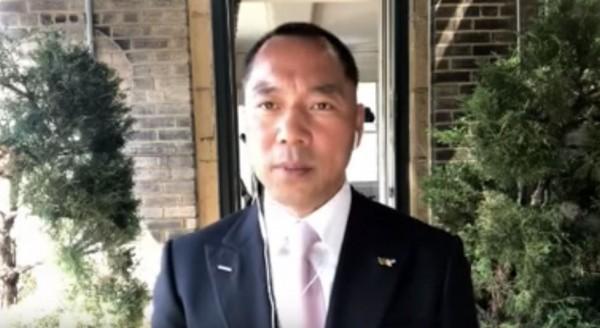 中國流亡美國的富商郭文貴,屢次爆料中共高層醜聞。(圖擷自YouTube)
