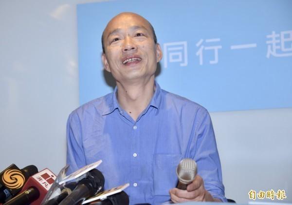 知名作家苦苓對國民黨高雄市長候選人韓國瑜(見圖)提出52個問題,引起討論。(資料照)