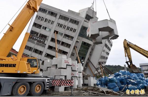 206花蓮大地震災情最嚴重的是雲門翠堤大樓。(資料照)