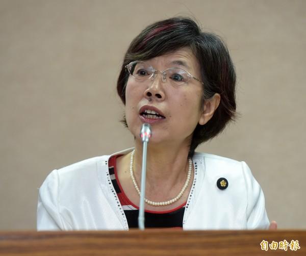 憲兵被控違法搜索事件,尤美女透露,她和台灣民間真相與和解促進會合作提出的《政治檔案法》,已經被國民黨擋了整整4年。(資料照,記者簡榮豐攝)