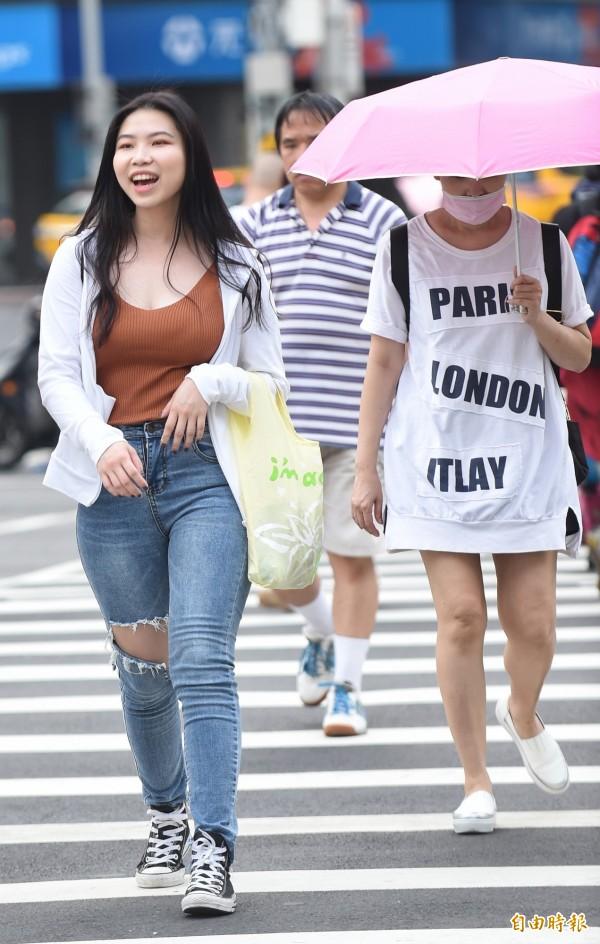 今天天氣炎熱,台北上午11時31分出現35.8度高溫,創下今年高溫紀錄!(資料照)