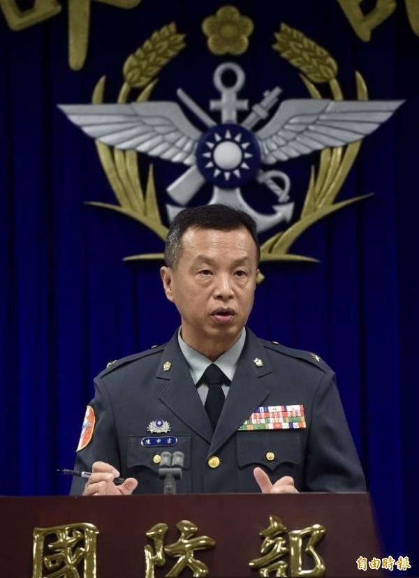 國防部發言人陳中吉今天證實,陸軍航空特戰指揮部11日將舉辦「陸軍航空第601旅AH-64E直升機全作戰能力成軍典禮」。(記者簡榮豐攝)