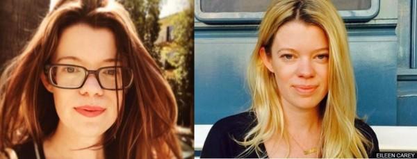 原為金髮且會配戴飾品的艾琳凱利(Eileen Carey)。現在不但染了棕髮、且鮮少花時間在化妝打扮上,想塑造出更專業的形象。(圖取自BBC)