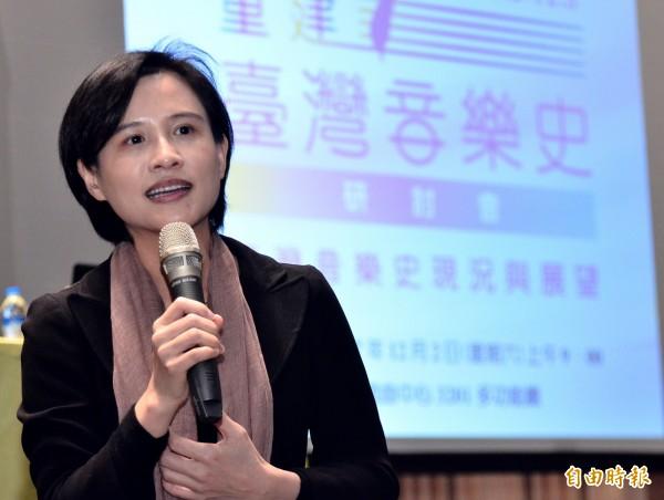 文化部長鄭麗君今天(12日)提到,台灣文化不只是崇拜「台灣」這個符號而已,而是回歸到「人」的本身。(資料照,記者陳奕全攝)