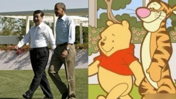 習近平與歐巴馬合照。(圖擷取自PTT)
