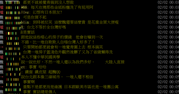 一位網友最近在網路分享,他之前詢問一個首次來台日本人對台灣的看法,結果對方表示「又髒又窮」。(圖擷自批踢踢)
