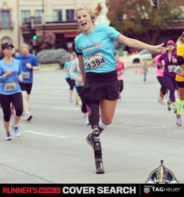 白俄羅斯女子塔希維納雖因核災遺害沒有雙腿,但熱愛運動的她在裝上義肢後仍數次參加馬拉松。(圖擷自Tatsiana G. Khvitsko臉書)