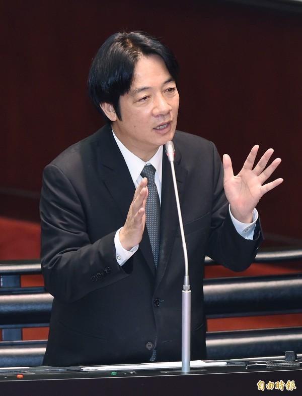 行政院長賴清德(見圖)上任超過1個月,台灣民意基金會今公布最新民調顯示,58%民眾滿意新內閣表現。(資料照,記者廖振輝攝)