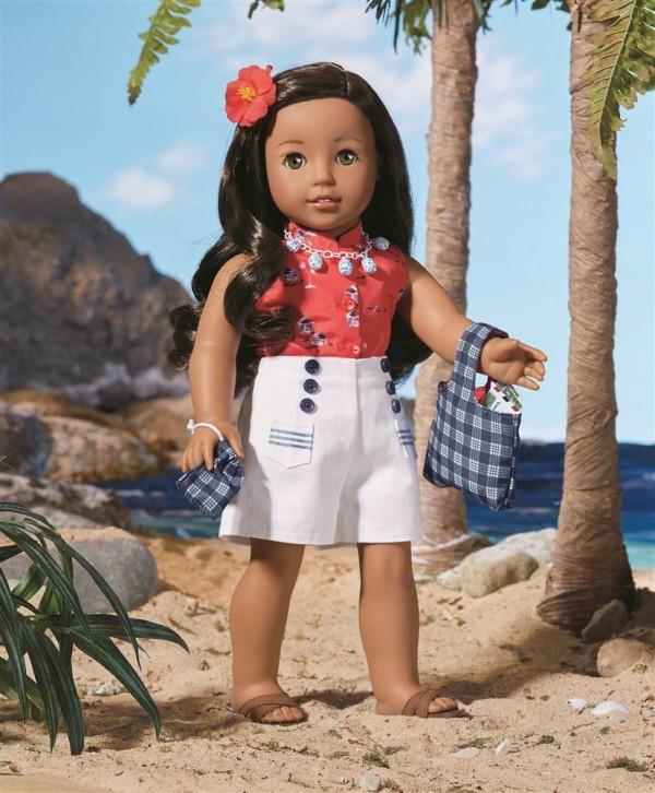 有夏威夷血統的女孩Nanea Mitchell。(圖擷自NBC News)
