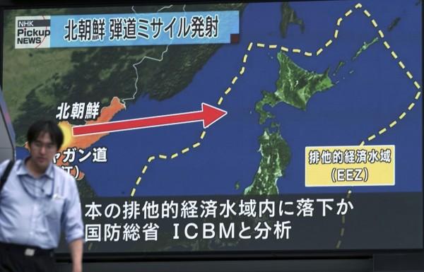 北韓若真的射彈,將會飛越日本瞄準關島。(美聯社)
