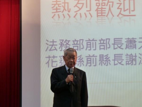 前法務部長蕭天讚,今(16)日上午於台北市辭世,享壽83歲。(中央社)