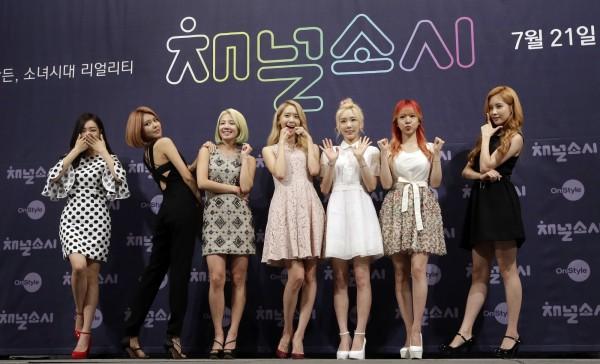 北韓局勢緊張,南韓在韓半島非軍事區板門店附近,如期舉行「DMZ和平演唱會」,南韓女子天團少女時代也到場演唱。(美聯社)