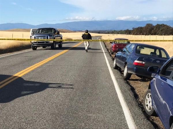 美國加州發生隨機槍擊案,警方已封鎖當地。(美聯)