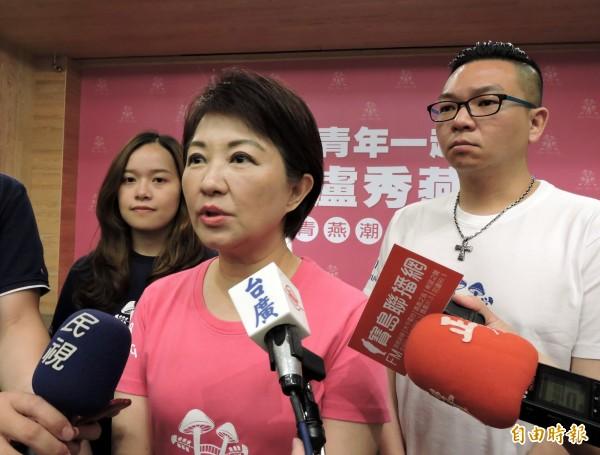 國民黨智庫國家政策研究基金會民調顯示,台中市長選情中,國民黨立委盧秀燕(見圖)的支持度以39.7%樂勝市長林佳龍的33%。(資料照)