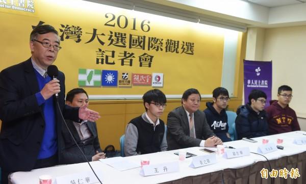 香港學運人士曾在今年台灣大選期間來台觀選。(資料照,記者簡榮豐攝)