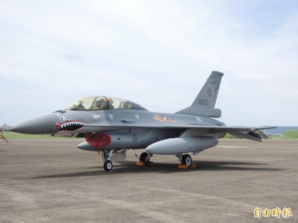 F16戰機將換裝新型電戰莢艙。(資料照,記者羅添斌攝)