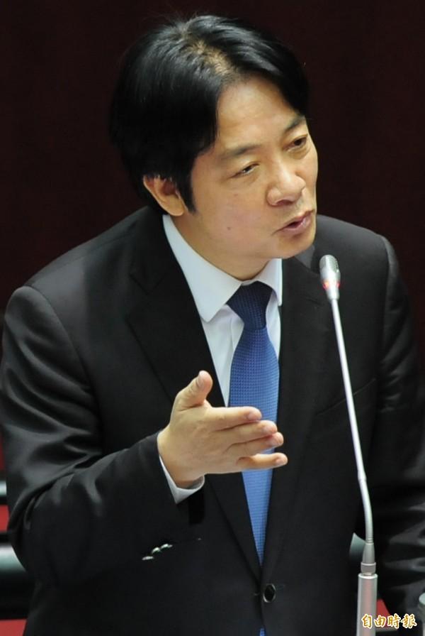 行政院長賴清德今日受訪表示,台灣金融穩定,經濟基本面很好,我們對台灣一定要有信心。(記者王藝菘攝)