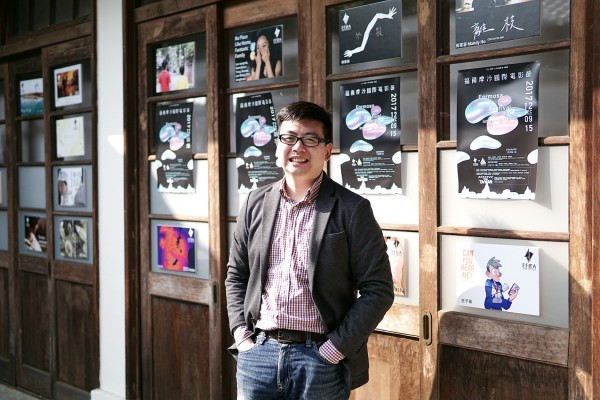 Film director Mark Ang poses for a picture on Dec. 14. Photo: Ho Tsung-han, Taipei Times