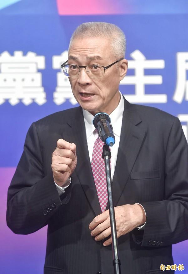 吳敦義今表示,台灣參與世衛大會(WHA)不涉意識形態,今年還沒收到邀請函,希望中國大陸不要阻饒,讓台灣的衛福部長以部長身分出席。(資料照,記者方賓照攝)
