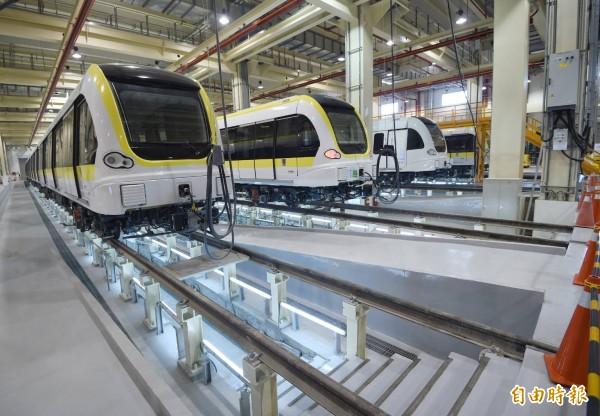 捷運局說,目前環狀線第一階段工程,整體施工進度已達90%。(記者方賓照攝)